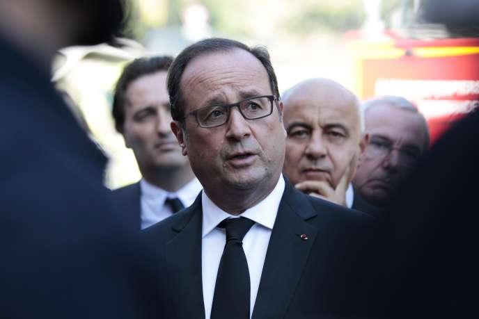 François Hollande à Biot, le 4 octobre 2015.