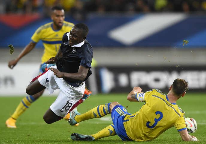 Giannelli Imbula avec l'équipe de France face à la Suède le 10 octobre 2014.