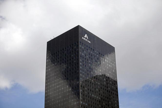 Les bureaux d'Areva, situés dans le quartier de la Défense (Haut-de-Seine)