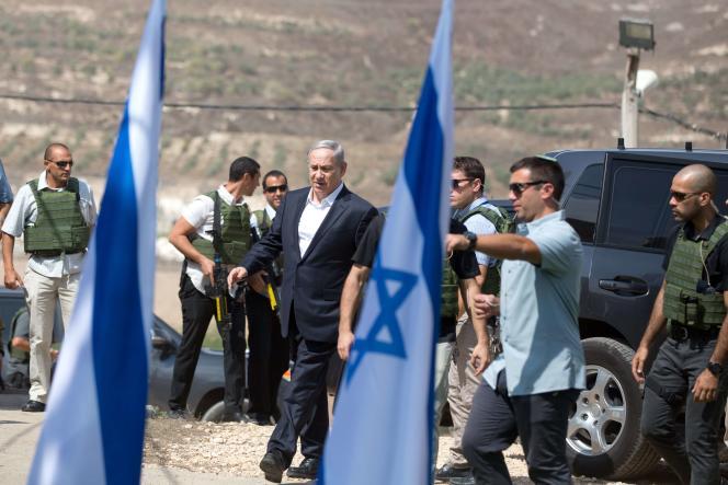 Benyamin Nétanyahou, le 6 octobre au camp militaire de Horon, près de Naplouse.