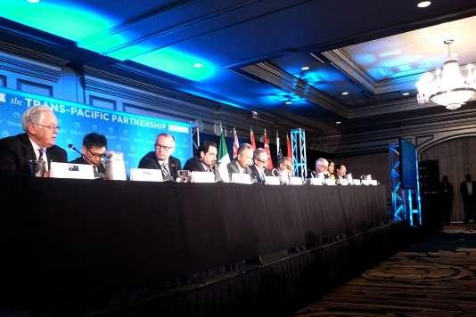 Les délégués de l'accord sur le Partenariat trans-pacifique à Atlanta, le 5 octobre.