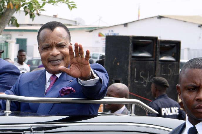 Denis Sassou-Nguesso, le président congolais, en juillet 2014 à Brazzaville.