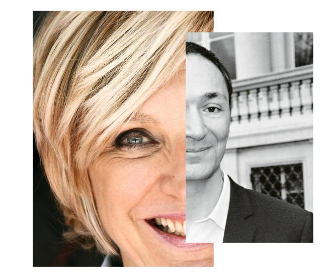 Evelyne Dhéliat et Philippe Verdier, présentateurs des bulletins météo de TF1 et France 2.