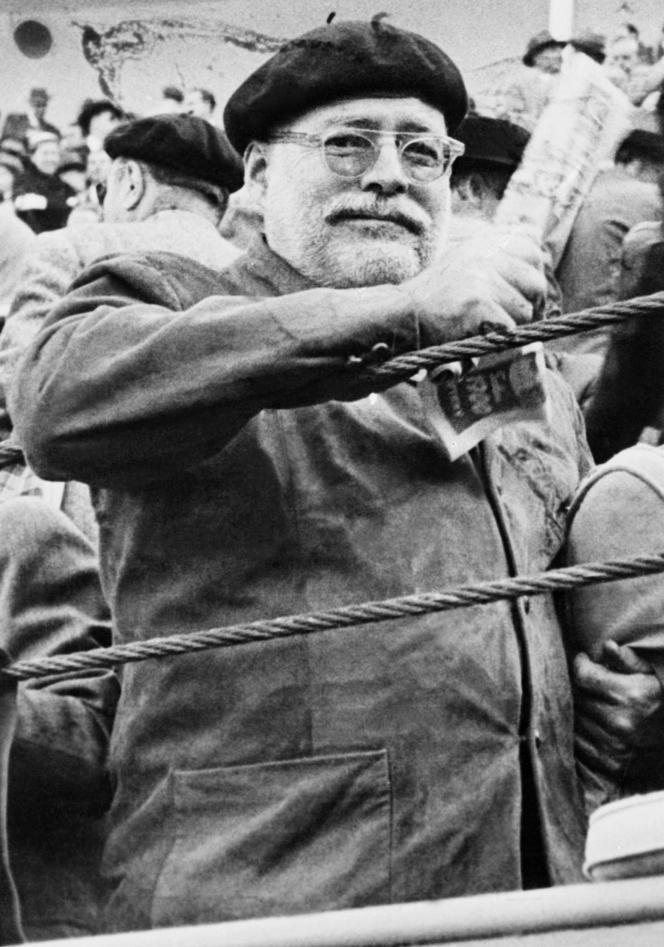 L'écrivain américainErnest Hemingway, années 1950.