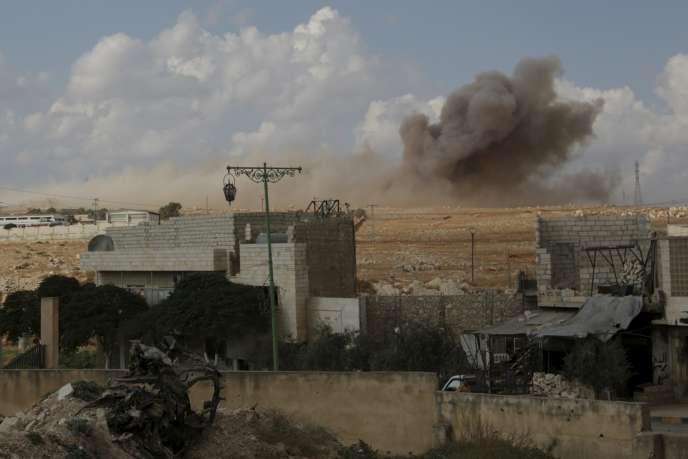 Bombardement sur la province d'Idlib, le 7 octobre.