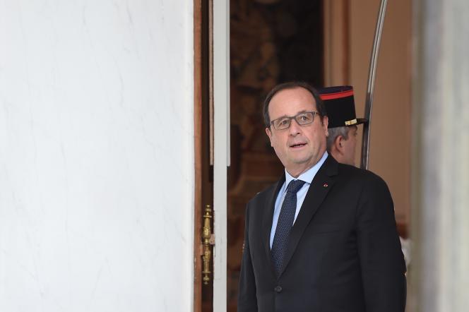 Le  président François Hollande à l'Elysée, le 7 octobre.