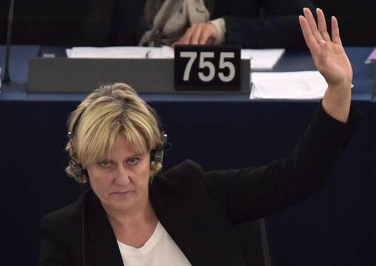 Nadine Morano, ancienne ministre et secrétaire d'Etat,est députée européenne du groupe PPE depuis 2014.