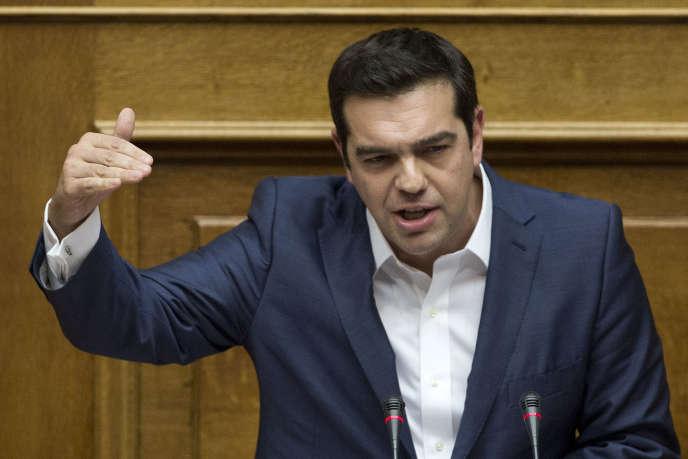 Alexis Tsipras le 8 octobre, à Athènes.