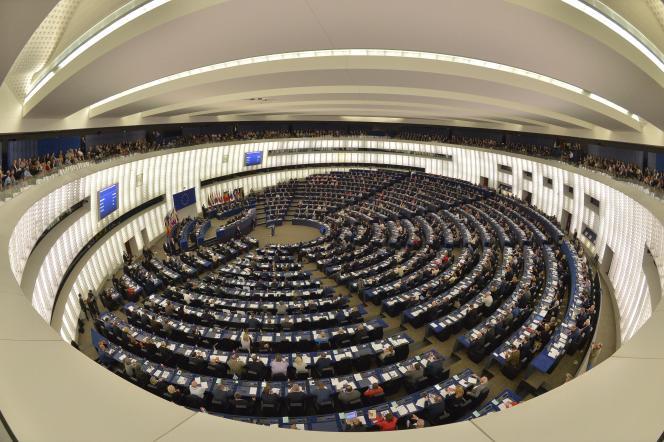Lors d'une assemblée du Parlement européen, à Strasbourg.