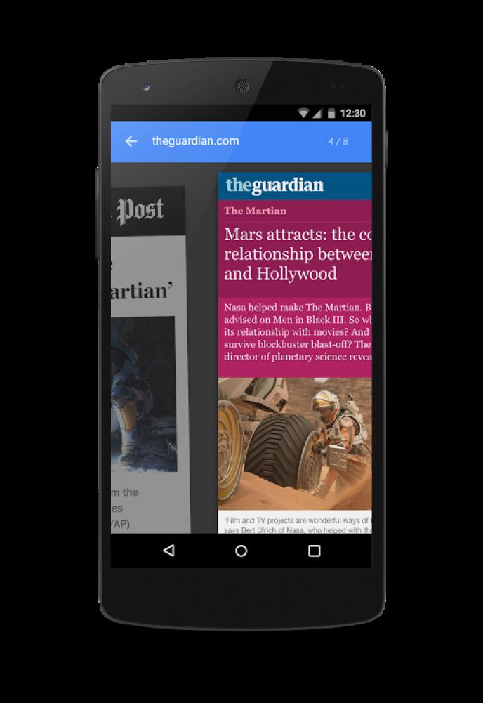 Exemple d'article du Guardian publié dans le format Amp créé par Google pour améliorer la consultation sur support mobile