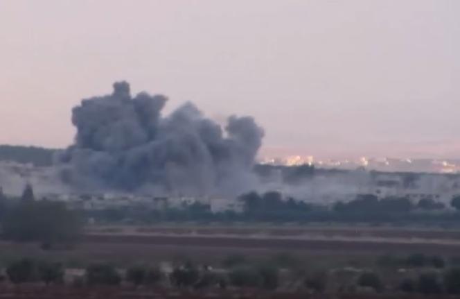 Bombardements russes sur la ville de Kafar Zita, le 7 octobre.