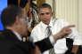 Le président Barack Obama, lors du Sommet sur la voix des travailleurs, organisé à la Maison Blanche, le 7 octobre 2015.