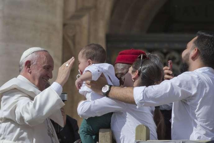Le Pape François au Vatican le 7 octobre.