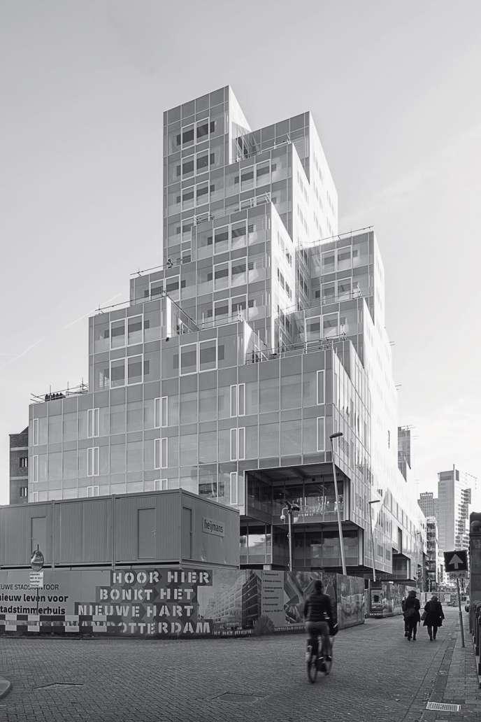 """Le """"picture element"""" a fait son entrée en architecture avec le Timmerhuis à Rotterdam."""