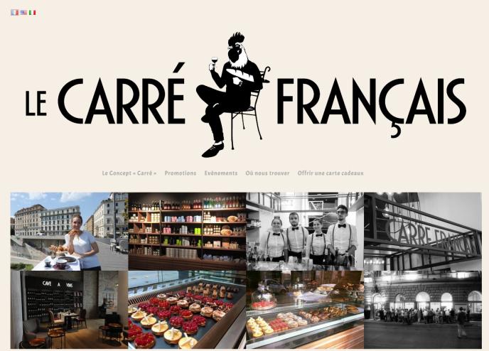 Capture du site internet du Carré français, ouvert à Rome mi-septembre.