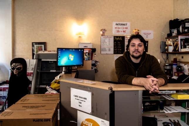 Siegfried Thouvenot a ouvert le cybercafé « le meilleur des mondes » en 2002 à Paris.