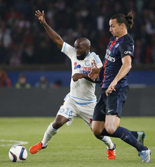 Lassana Diarra, sous les couleurs de l'Olympique de Marseille, en octobre 2015.