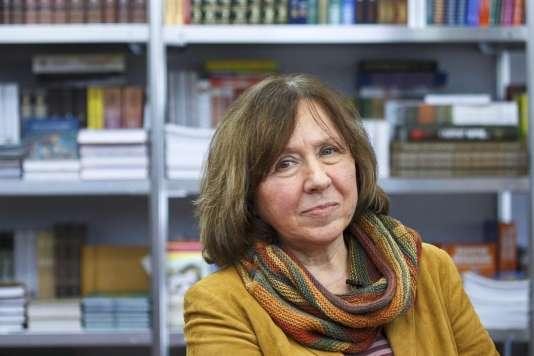 L'écrivaine biélorusse Svetlana Alexievitch a reçu le prix Nobel de littérature 2015, jeudi 8 octobre.