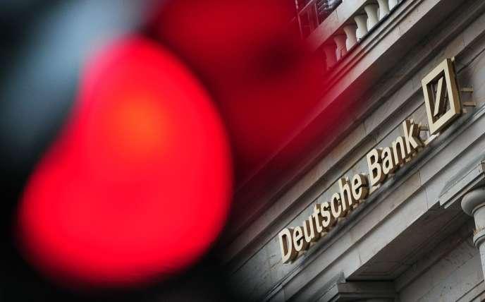 La banque à Francfort.