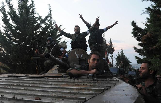 Des militaires pro-Assad, le 8 octobre en Syrie.