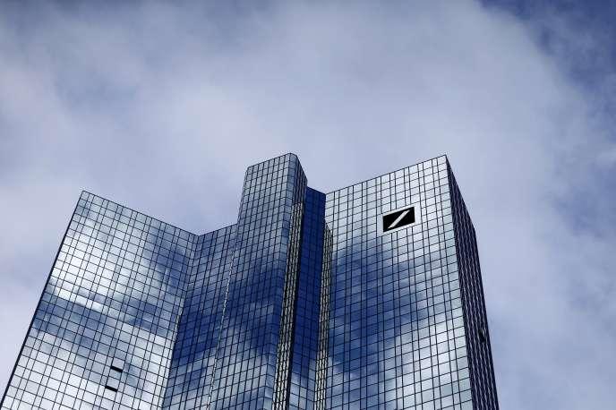 Le siège social de la Deutsche Bank, à Francfort