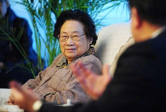 La chercheuse chinoise Tu Youyou, colauréate du prix Nobel de médecine 2015.