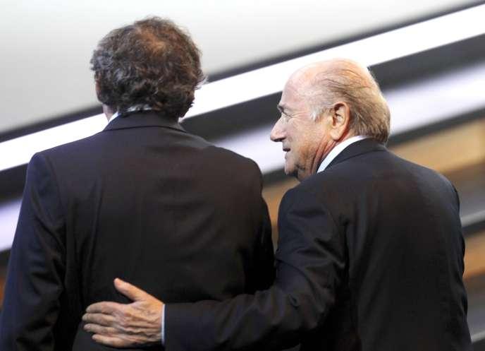 Michel Platini et Joseph Blatter à Zurich en Suisse en juin 2011.