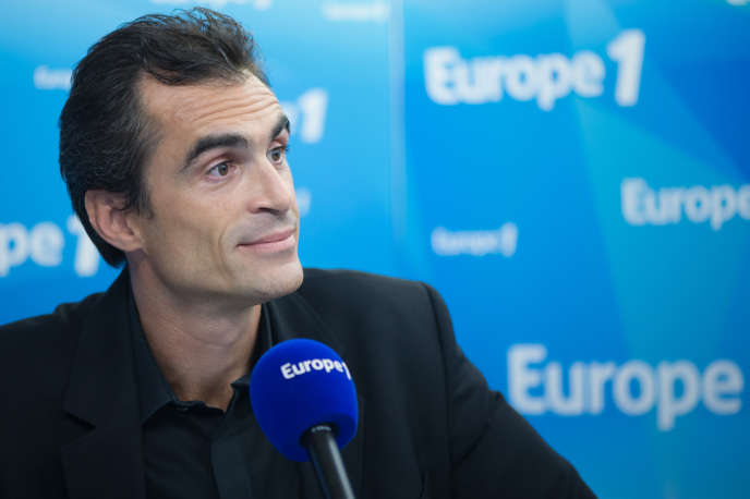 Raphaël Enthoven  sur Europe 1 à Paris, le 31 Aout 2015.