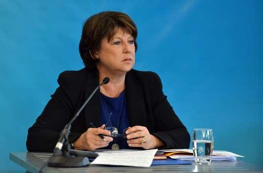 Martine Aubry à Lille le 23 septembre 2015.