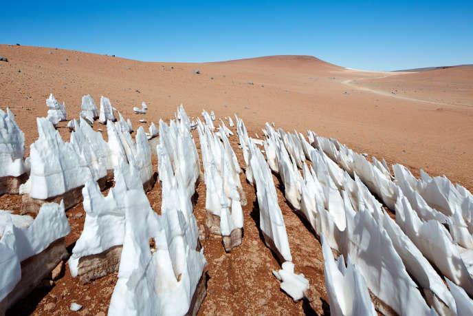 Pénitents de neige dans les Andes chiliennes.