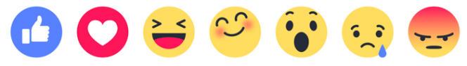Six « emoji » viendront s'ajouter au célèbre bouton « j'aime » de Facebook.