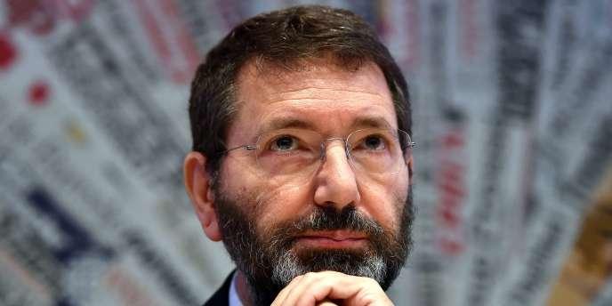 Ignazio Marino, le maire de Rome (Parti démocrate) en avril 2015.