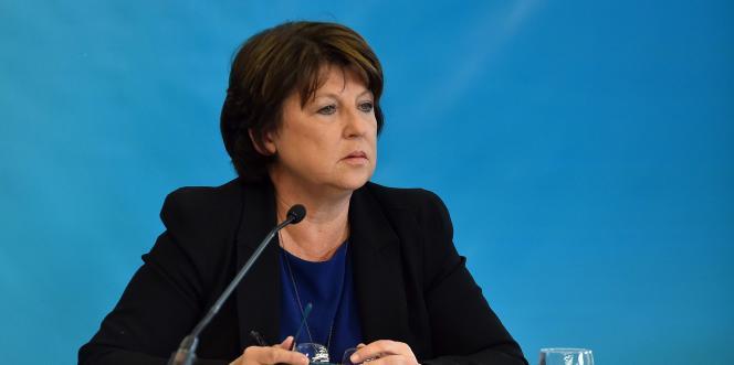 La maire PS de Lille, Martine Aubry, le 23 septembre 2015 à Lille.