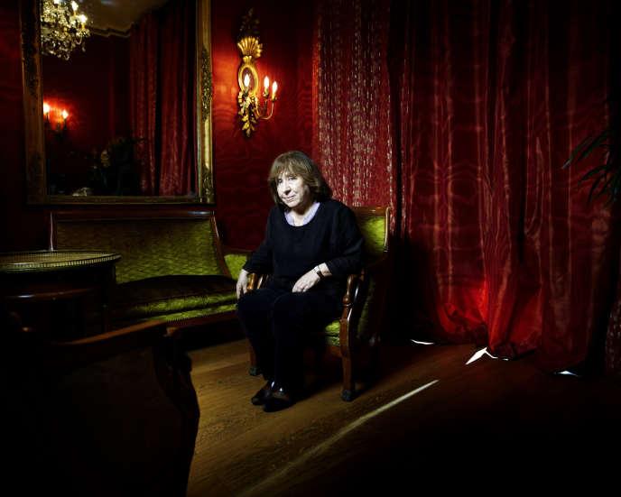Svetlana Alexievitch à Paris, en janvier 2013.