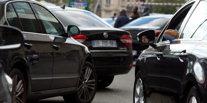 Des chauffeurs Uber à Paris.