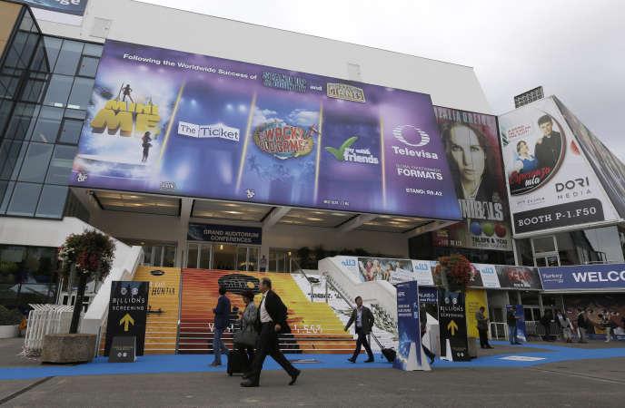 Le Palais des festivals, à Cannes, lors du Marché international des contenus audiovisuels, mardi 6octobre.
