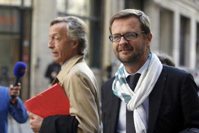 Jérôme Lavrilleux, ancien chef de cabinet de Jean-François Copé, arrive au pôle financier du tribunal de Paris, le 9 octobre.