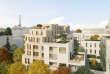 Vue des terrasses des logements. Les espaces verts intérieurs occuperont 40% du futur ensemble immobilier du 46-50, avenue de Breteuil, à Paris