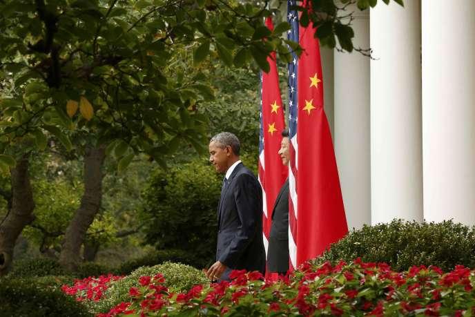 Barack Obama et Xi Jinping à la Maison Blanche à Washington le 25 septembre 2015.