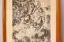 """Illustration de la fable de La Fontaine """"Le Renard et les Chiens"""" (1955), gravure signée Marc Chagall, 25 cm x 30 cm. Librairie Chrétien, Jean Izarn, Paris"""