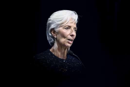 La directrice générale du FMI, Christine Lagarde, à Lima (Pérou), le 10 octobre 2015