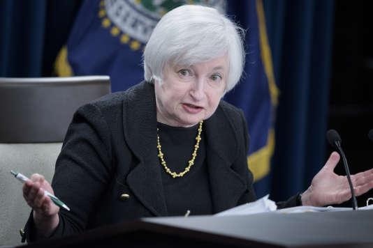 Janet Yellen, présidente de la Réserve fédérale américaine, le 17 septembre, à Washington.