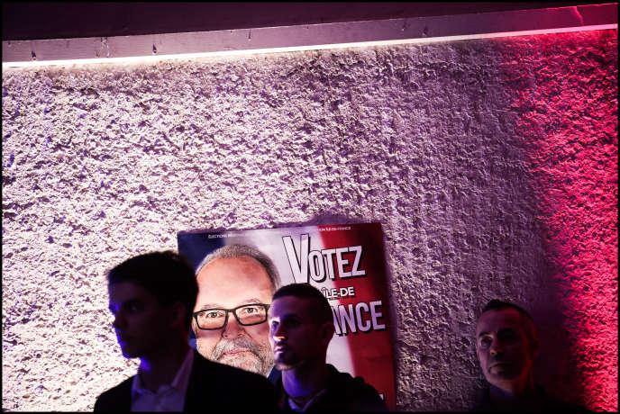 Meeting de Wallerand de Saint Just à Auvers-Saint-Georges, dans l'Essonne, le 14 septembre.