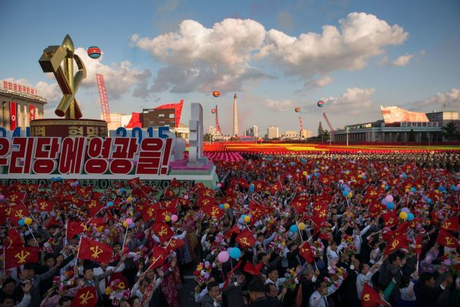 Lors du 70e anniversaire du parti unique, à Pyongyang, le 10 octobre.