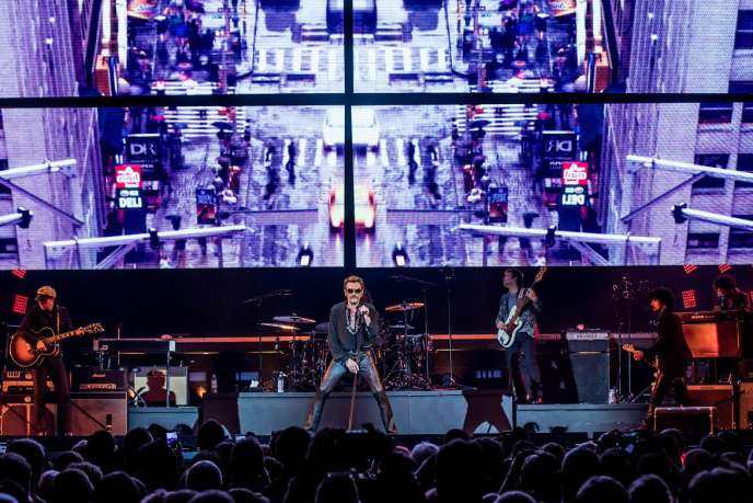 Johnny Hallyday, en concert le 9 octobre 2015, à Lille.
