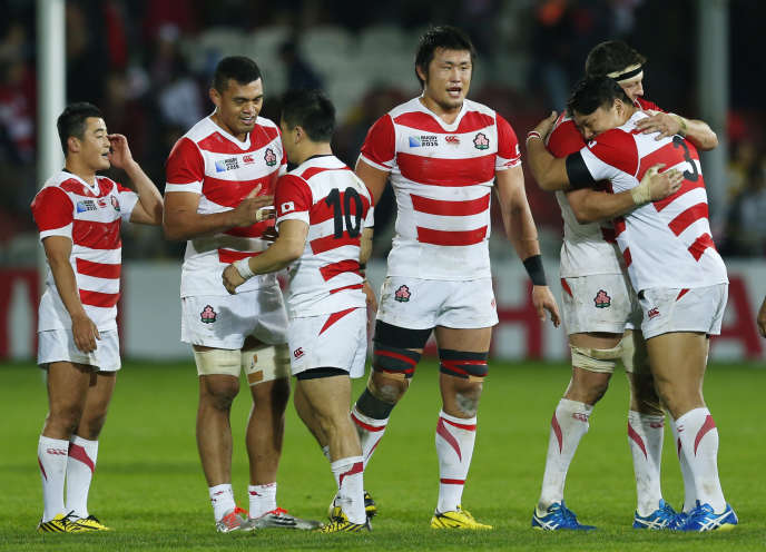 L'équipe de rugby du Japon, le 11 octobre à Gloucester.