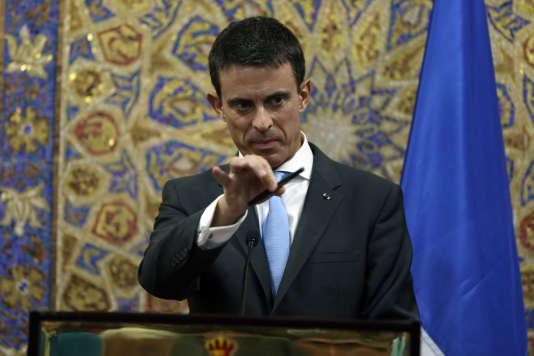 Conférence de presse de Manuel Valls, dimanche 11 octobre à Amman (Jordanie).