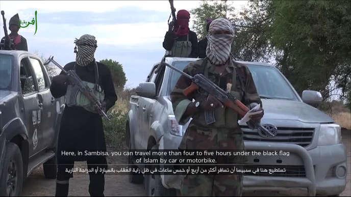 Capture d'une vidéo de propagande du groupe Boko Haram, postée sur YouTube le 2 juin.