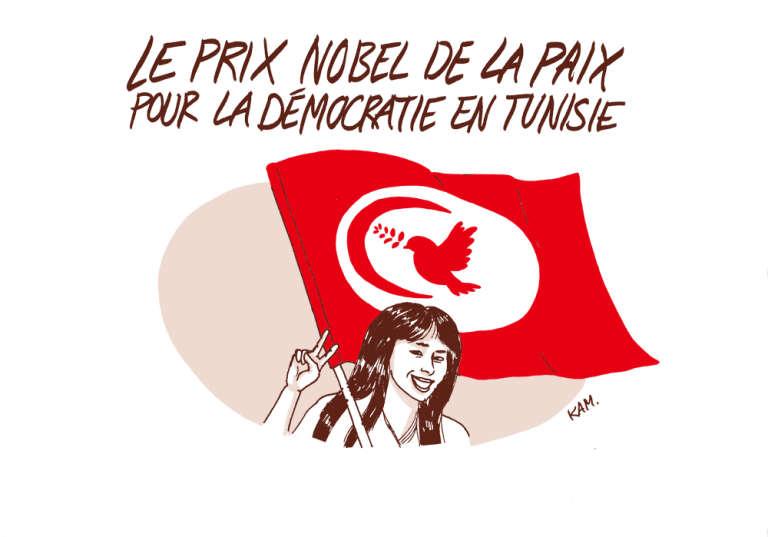 La Tunisie reçoit le prix Nobel de la paix.