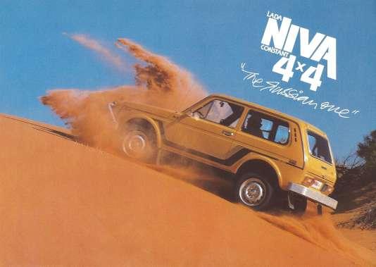 """Niva 4x4, """"la russe"""", annonce cette publicité."""